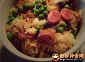 香肠蒸糯米饭