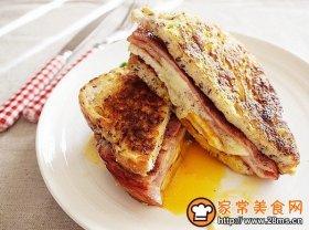咸火腿鸡蛋煎三明治
