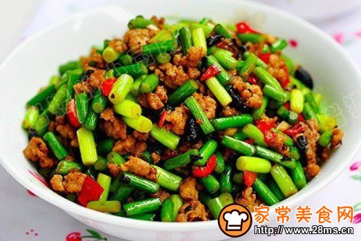 豆豉炒肉丁