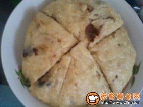 牛奶味的红枣玉米发糕