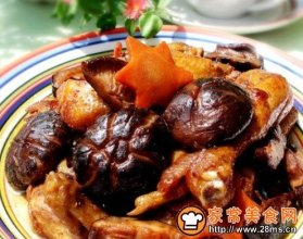 红烧香菇鸡块