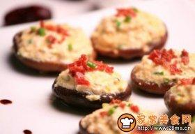 鸡茸火腿酿香菇