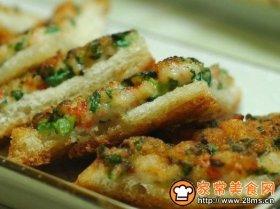 香煎鲜虾土司
