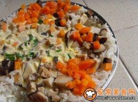 香菇萝卜鸡蛋蒸饭