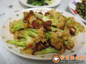 麻辣香肠炒花菜
