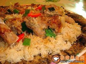 荷叶排骨糯米饭