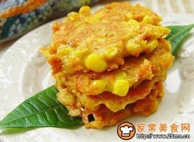 胡萝卜早餐饼
