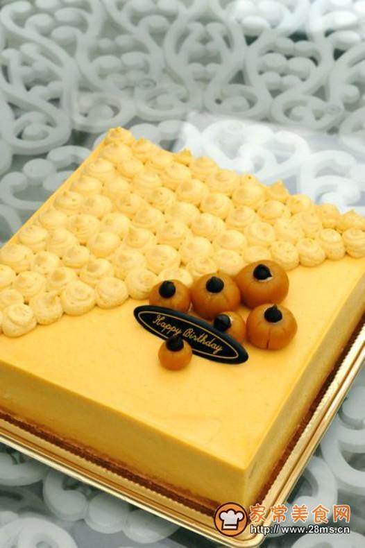 南瓜慕斯生日蛋糕的做法图片
