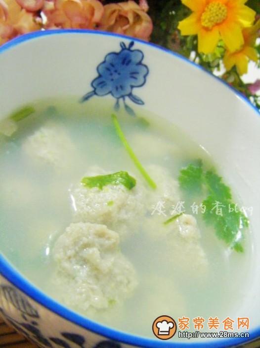 营养滑嫩鱼丸子汤的做法