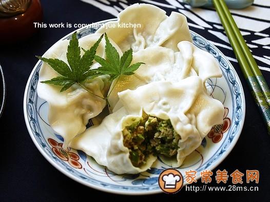 四季豆猪肉饺子的做法