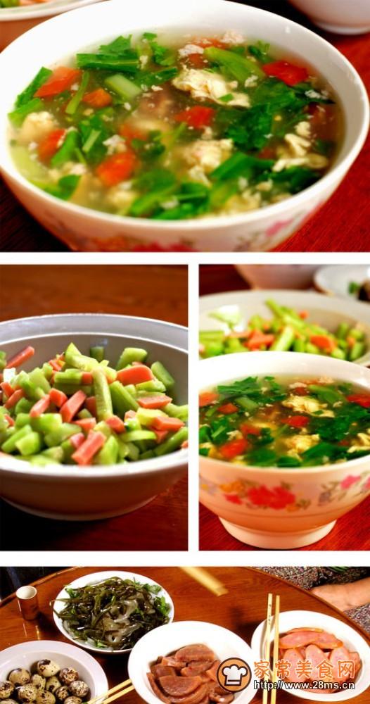 炫色鸡蛋汤的做法