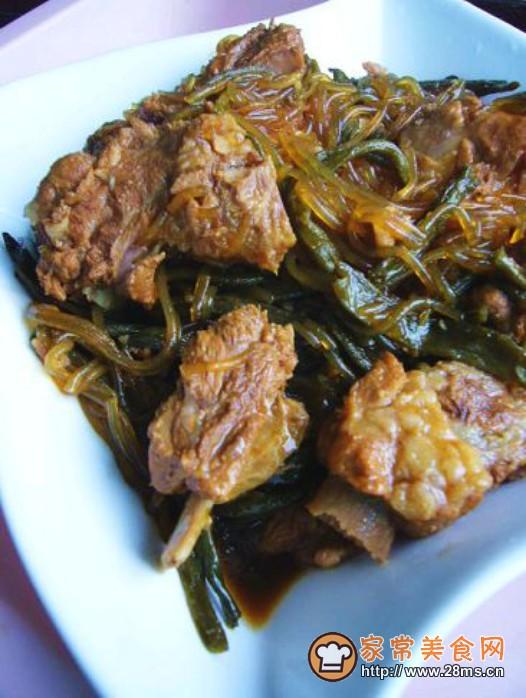 红烧豆角干排骨炖粉条的做法烟三文鱼前菜的做法图片