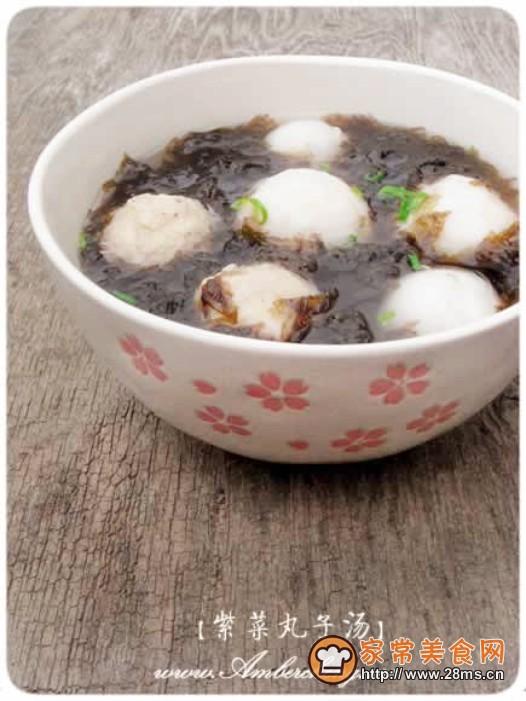 超简便紫菜丸子汤的做法