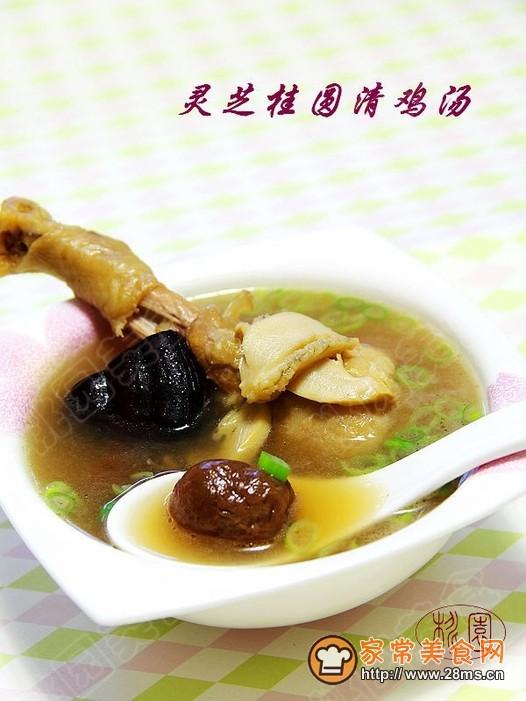 灵芝虫草花煲鸡汤_灵芝桂圆清鸡汤的做法