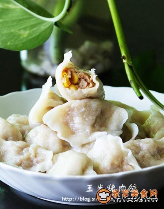 玉米猪肉饺的做法日本调味品图片