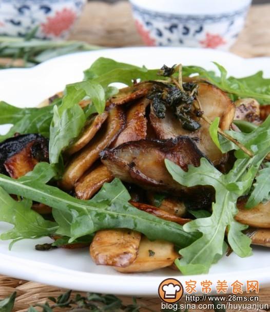 香草黑椒烤蘑菇的做法