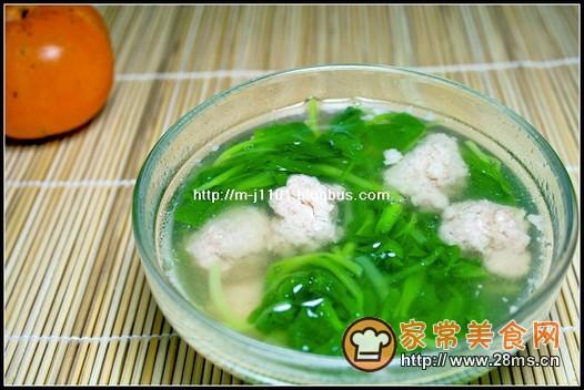 青菜肉圆汤的做法
