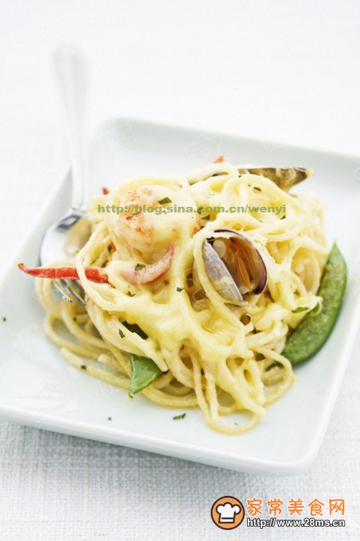 海鲜焗意大利面的做法