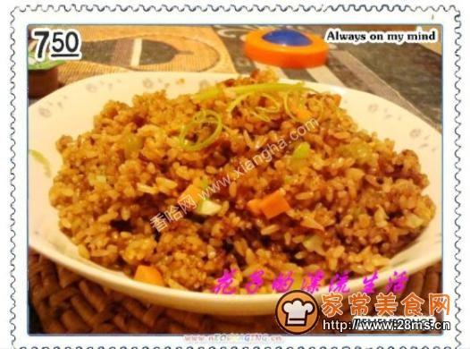 豆豉鲮鱼炒米饭的做法