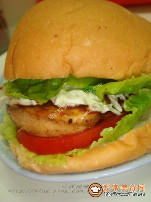鸡肉汉堡的做法