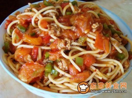 番茄肉酱意粉的做法