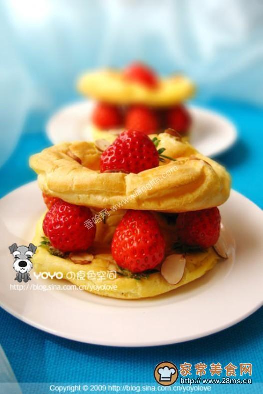 草莓法式布列斯特环的做法