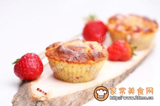 草莓小蛋糕的做法