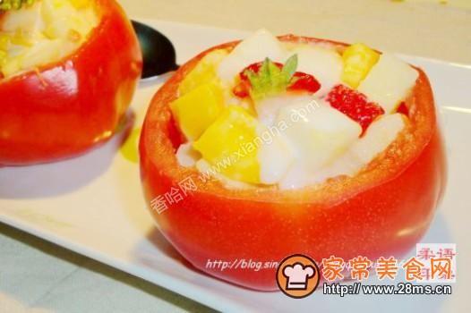 番茄水果盅的做法