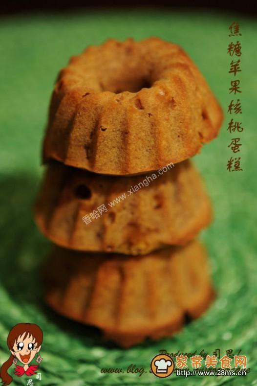 焦糖苹果核桃蛋糕的做法