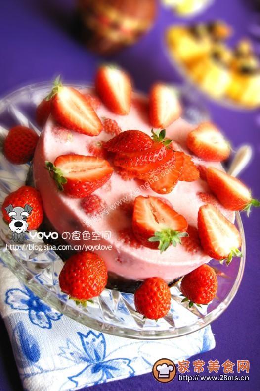 草莓慕司蛋糕的做法