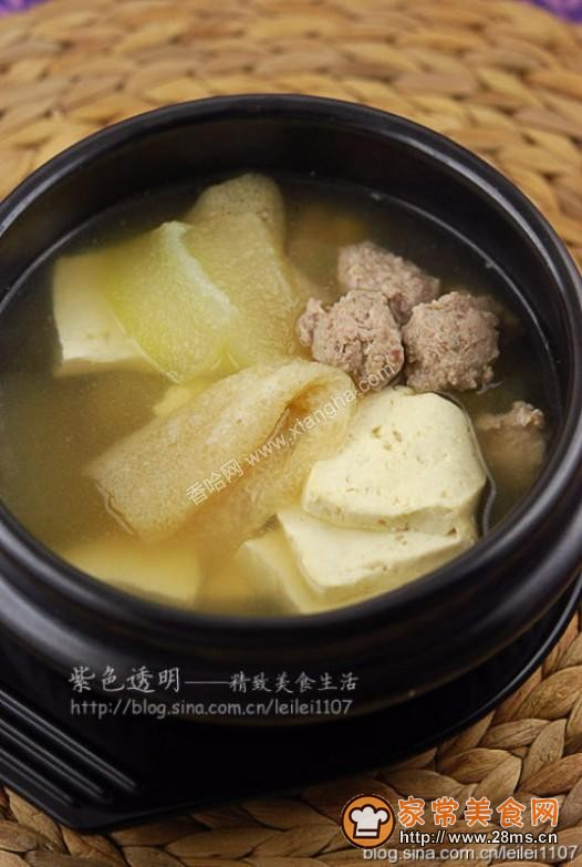 竹荪冬瓜丸子汤的做法
