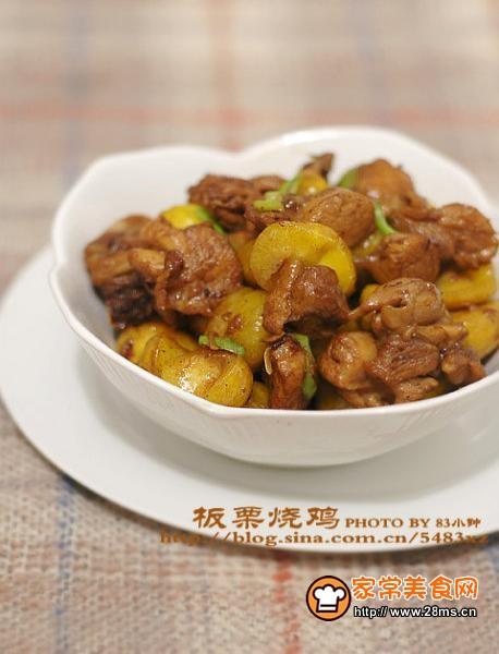 最应节的中秋菜-板栗烧鸡
