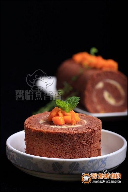 巧可力芒果蛋糕卷