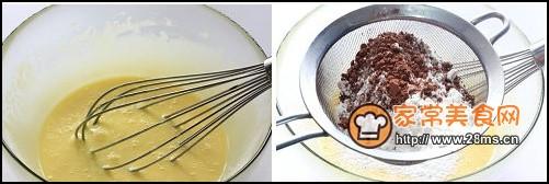 巧可力芒果蛋糕卷步骤2