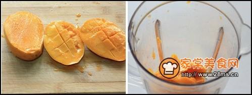 巧可力芒果蛋糕卷步骤8