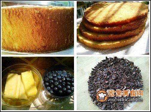 蓝莓菠萝蛋糕步骤4
