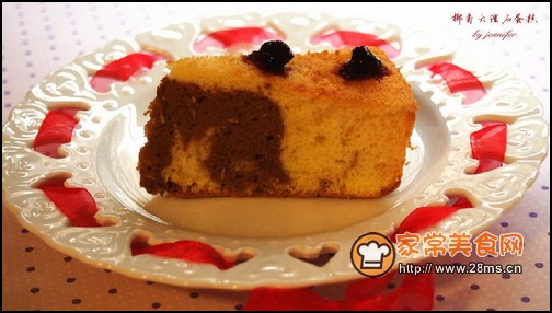 椰香大理石蛋糕的做法