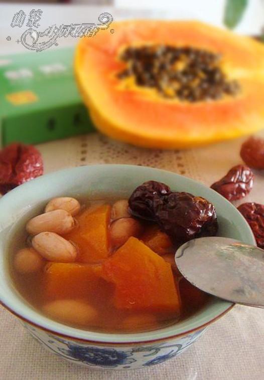 木瓜花生大枣汤的做法