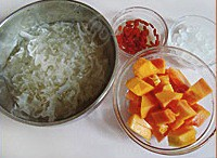 木瓜银耳糖水的做法步骤1