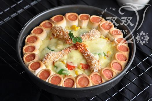 香酥虾花边披萨的做法