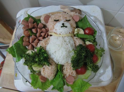 小熊爱心便当的做法