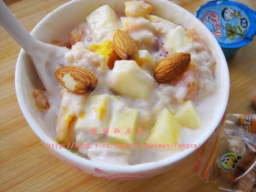 酸奶水果麦片粥的做法