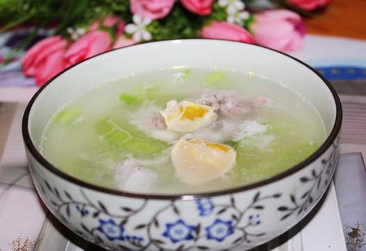 咸蛋白瓜汤的做法