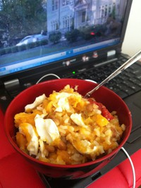 糙米番薯咸鸭蛋纳豆饭的做法步骤6