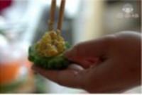 鲜虾蛋黄酿苦瓜的做法步骤6