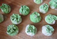 豆腐蛋黄翡翠包的做法步骤15