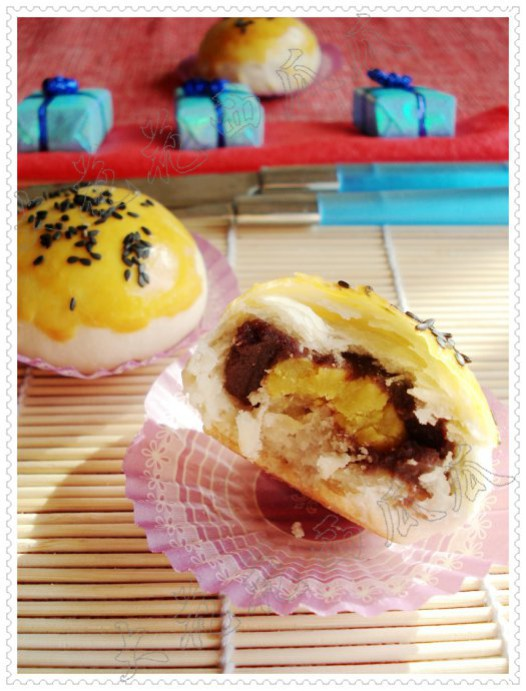 蛋黄酥(色拉油版)的做法