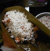 瑶柱花生蛋黄粽的做法步骤11