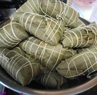 瑶柱花生蛋黄粽的做法步骤18