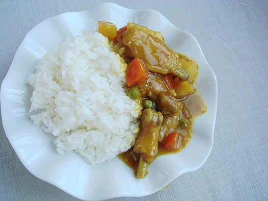 柚子酱咖喱鸡饭的做法